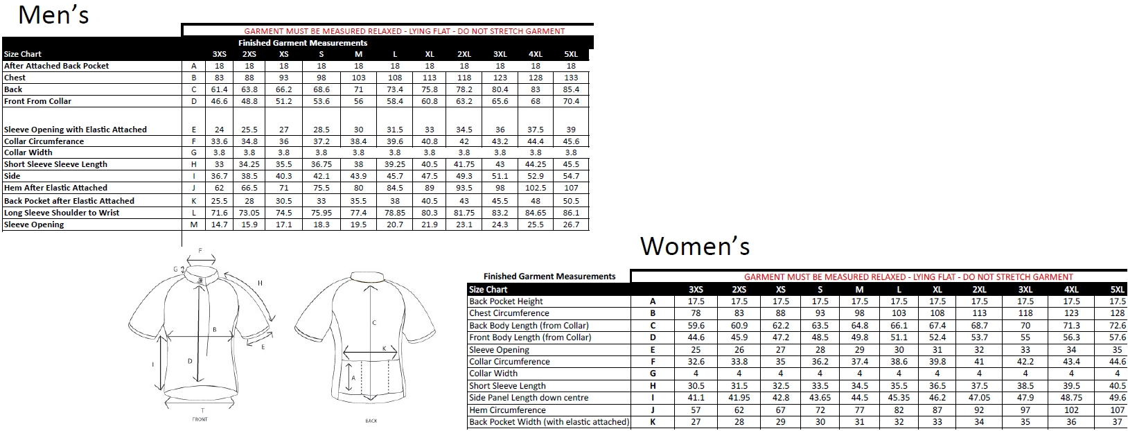 15R4P jersey sizing